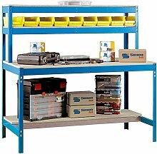 simonrack 448100045127514BT/11200Kit D 'Werkbank blau/Holz