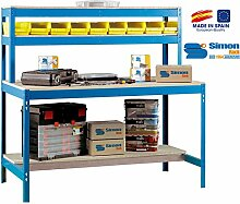 simonrack 448100045157514BT/11500Kit D 'Werkbank blau/Holz