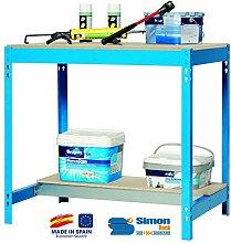 simonrack 448100045157592BT/31500Kit D 'Werkbank blau/Holz