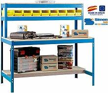 simonrack 448100045187514BT/11800Kit D 'Werkbank blau/Holz