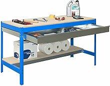 simonrack 448100945157592Kit BT/3Box 1500Kit D Werkbank blau/Holz
