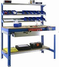 simonrack 448100945159074 Kit BT/1 Box 900-Set Werkbank Azul/Holz