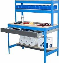 simonrack 448100945159074Kit BT/1Box 900-Set Werkbank Azul/Holz