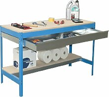 simonrack 448100945906092Kit BT/3Box 900-Set Werkbank blau/Holz