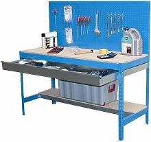simonrack bt-2Box 1200-Set Werkbank blau/Holz