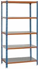 simonrack Simonclick Plus 5/500-Set Regal blau/orange/verzinkt,