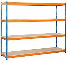 simonrack simonforte 1806–4Plywood-Set Regal blau/orange/Holz