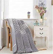 simonshop FLANNE Tatami Bett Protektor Pad faltbar Dekorative Matratze Pad Betten Decor, grau, 150x200cm