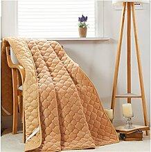 simonshop FLANNE Tatami Bett Protektor Pad faltbar Dekorative Matratze Pad Betten Decor, gelb, 180x200cm