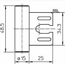 Simonswerk Rahmenteil V8000 WF GA vernickel