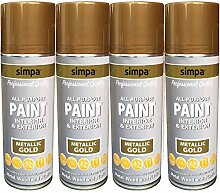 Simpa All Purpose Spray Paint metallic Effekt
