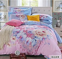 Simple cotton four sets of bedding, wedding supplies sets sets