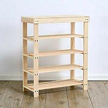 DuneDesign XL Bambus Holz Regal 83 x 38 x 39,5 cm 3 Fächer