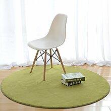 Simple Mode-fußmatten/Runde Matten/Hall,Schlafzimmer,Teetisch,Living Room,Non-rutschen-matten/Computer-stuhl-matte-F Durchmesser80cm(31inch)
