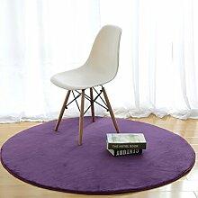 Simple Mode-fußmatten/Runde Matten/Hall,Schlafzimmer,Teetisch,Living Room,Non-rutschen-matten/Computer-stuhl-matte-H Durchmesser60cm(24inch)