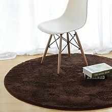 Simple Mode-fußmatten/Runde Matten/Hall,Schlafzimmer,Teetisch,Living Room,Non-rutschen-matten/Computer-stuhl-matte-D Durchmesser70cm(28inch)