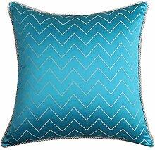 Simple Mode Jacquard Kissen blau/Sofa-Bett Kissen/ Feather Wolle Kissen-A 50x50cm(20x20inch)