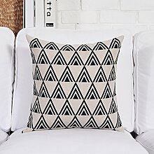 Simple moderne kissenbezüge geometrie verdicken sie fluidsysteme kissen sofa dekoration kissen-A 53x53cm(21x21inch)VersionA