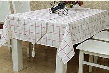 Simple,moderne,tee tischdecke/europäisch anmutenden tischdecken/Östlichen mittelmeer,klassische,gitter,tischtuch-B 85x85cm(33x33inch)