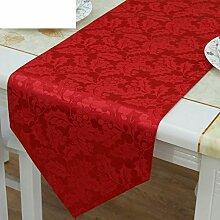 Simple,moderne tischläufer/weihnachten rot,chinesische art,hochzeit,esstisch läufer-A 33x200cm(13x79inch)