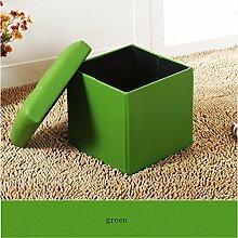 Simple modernen Klappstuhl / Tuch Hocker / Sofa Hocker / Lagerung Stuhl Lagerung / Verschleiß Schuhe Hocker (6 Farben optional) ( farbe : A )