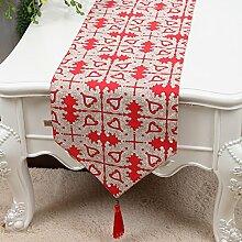 Simple,pastorale tischläufer/bett-runner/tischläufer/canvas table-flag-I 33x150cm(13x59inch)