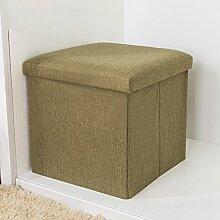 Simple Storage Hocker Aufbewahrung Sofa Aufbewahrung Hocker kann für den Schuh Hocker Falten Aufbewahrungsbox Multifunktions Stoff Hocker (4 Farben optional) (Größe optional) Kann auf dem Hocker sitzen ( Farbe : A , größe : 40*25CM )