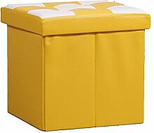 Simple Storage Hocker Aufbewahrung Sofa Hocker Creative Hocker Aufbewahrung Hocker Wechselnder Schuh Hocker (Gelb) (38 * 38 * 38cm) Kann auf dem Hocker sitzen