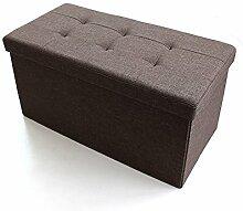 Simple Storage Hocker Aufbewahrungshocker Rechteckiger Klapphocker kann auf dem Hocker sitzen Multifunktions für Schuhhocker (3 Farben optional) (76 * 38 * 38cm) Kann auf dem Hocker sitzen ( Farbe : B )