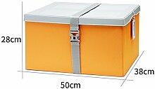Simple Storage Hocker Beenden der Aufbewahrungsbox Es gibt eine Plastikabdeckung Faltender Hocker Extra große feuchte Kleidung Aufbewahrungshocker Banderolierter Hocker (4 Farben wahlweise freigestellt) (50 * 38 * 28cm) Kann auf dem Hocker sitzen ( Farbe : B )