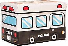 Simple Storage Hocker Faltender Bus-Speicher-Hocker Großer überdachter Multifunktionsaufbewahrungs-Hocker Kinderspielzeug-Aufbewahrungsbehälter (Farbe wahlweise freigestellt) (48 * 31 * 31cm) Kann auf dem Hocker sitzen ( Farbe : D )