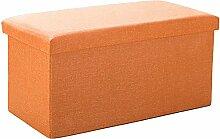 Simple Storage Hocker Foldable Storage Hocker Aufbewahrung für Schuh Hocker mit Baumwolle und Leinen Finishing Hocker Einfache Tuch kann einen Hocker (Farbe optional) (Größe optional) Kann auf dem Hocker sitzen ( Farbe : B , größe : 76*38CM )