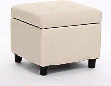 Simple Storage Hocker Kreative Multifunktions-Speicher Hocker Aufbewahrung Hocker sitzen Erwachsene Sofa Hocker Sofa Hocker Pedal Dressing Hocker (7 Farben optional) (47 * 47 * 33CM) Kann auf dem Hocker sitzen ( Farbe : C )
