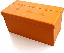 Simple Storage Hocker Multifunktions-Aufbewahrung Hocker Rechteckiger PU-Hocker Die Aufbewahrungsbox kann auf einem Hocker Sofa für Schuh Hocker Aufbewahrung Hocker (4 Farben optional) (76 * 38 * 38cm) Kann auf dem Hocker sitzen ( Farbe : B )