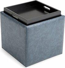 Simpli Home 3AXCOT-254-DBU Rockwood Cube Storage