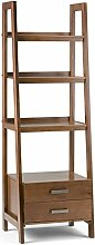 Simpli Home 3AXCSAW-06 Sawhorse Ladder Shelf with