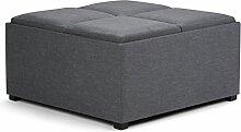 Simpli Home AY-F-07-GL Avalon Coffee Table Storage