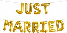 Simplydeko Folienballon Set JUST Married - Premium