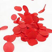 Simplydeko Table-Confetti | Konfetti aus Seidenpapier in 3cm (Party, Hochzeit, Deko, Hochzeitsdeko, Konfeti in Pastell) Wunderschönes XXL-Konfetti (Rot )