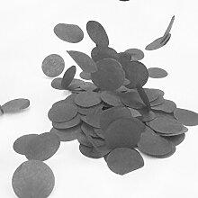 Simplydeko Table-Confetti | Konfetti aus Seidenpapier in 3cm (Party, Hochzeit, Deko, Hochzeitsdeko, Konfeti in Pastell) Wunderschönes XXL-Konfetti (Schwarz)