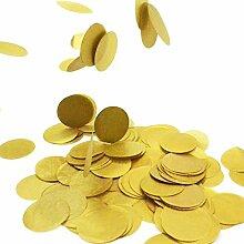 Simplydeko Table-Confetti | Konfetti aus Seidenpapier in 3cm (Party, Hochzeit, Deko, Hochzeitsdeko, Konfeti in Pastell) Wunderschönes XXL-Konfetti (Gold )