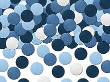 Simplydeko Table-Confetti Mix | Konfetti aus Papier (Party, Hochzeit, Deko, Hochzeitsdeko, Konfeti in Pastell) Wunderschönes Konfetti (Blau/Weiß)