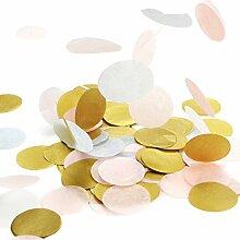 Simplydeko Table-Confetti Mix | Konfetti aus Seidenpapier in 3cm (Party, Hochzeit, Deko, Hochzeitsdeko, Konfeti in Pastell) Wunderschönes XXL-Konfetti (Wales)