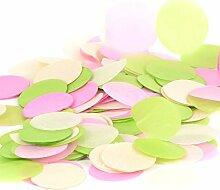 Simplydeko Table-Confetti Mix | Konfetti aus Seidenpapier in 3cm (Party, Hochzeit, Deko, Hochzeitsdeko, Konfeti in Pastell) Wunderschönes XXL-Konfetti (Hawaii)