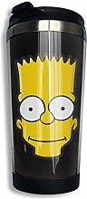 Simpsons Bart Edelstahl Kaffeetasse Reisebecher