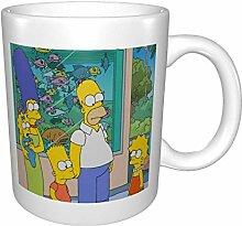 Simpsons Becher doppelseitig bedruckte keramische