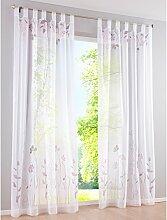 SIMPVALE 1 Stück Gardinen Floral Vorhang