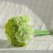 Simulation Blumenstrauß, Heimtextilien, Wohnaccessoires, Tischdekorationen, Nelken, grün