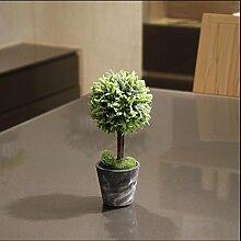 Simulation der Horseratoren der großen Bonsai vergossen grüne Bäume Olivenbäume Heimtextilien Wohnzimmer Balkon Dekoration , A