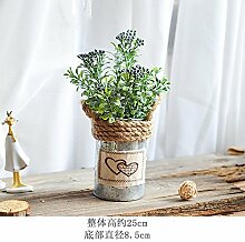 Simulation Der Pflanze Orchidee Kaffee Obst Blumen Topfpflanzen Bonsai Kleine Fenster, Blau